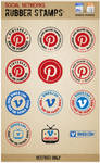 Vimeo and Pinterest Rubber stamps