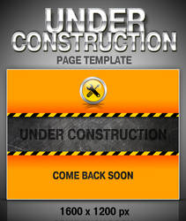 Under construction page template by Sergey-Alekseev