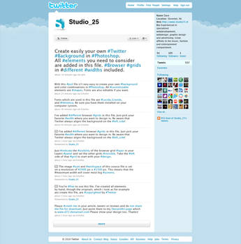 Create your Twitter Background by D72