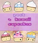 Kawaii cupcake png PACK