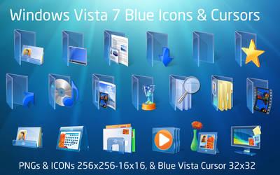 Blue Vista Icons Windows 7