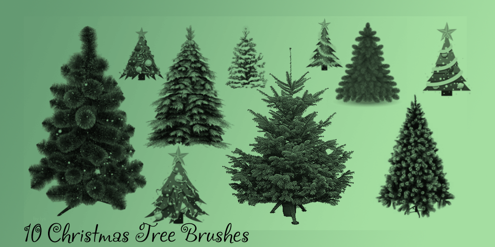 Christmas Tree Brush Set by u-lys