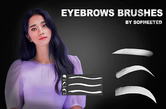 Eyebrows brushes by sopheeted