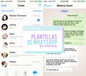 Plantillas de Whatsapp by myanemone