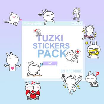 Tuzki Stickers Pack by Anemone by myanemone