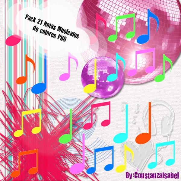 Pack Notas Musicales Png by ConstanzaIsabel on deviantART
