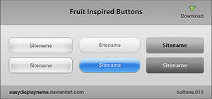 Fruit Inspired Buttons by easydisplayname