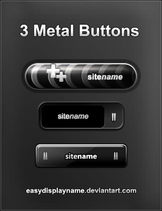 3 Metal Buttons by easydisplayname