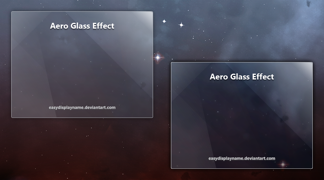 Aero Glass Effect Psd By Easydisplayname