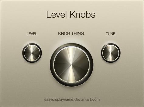 Level Knob by easydisplayname