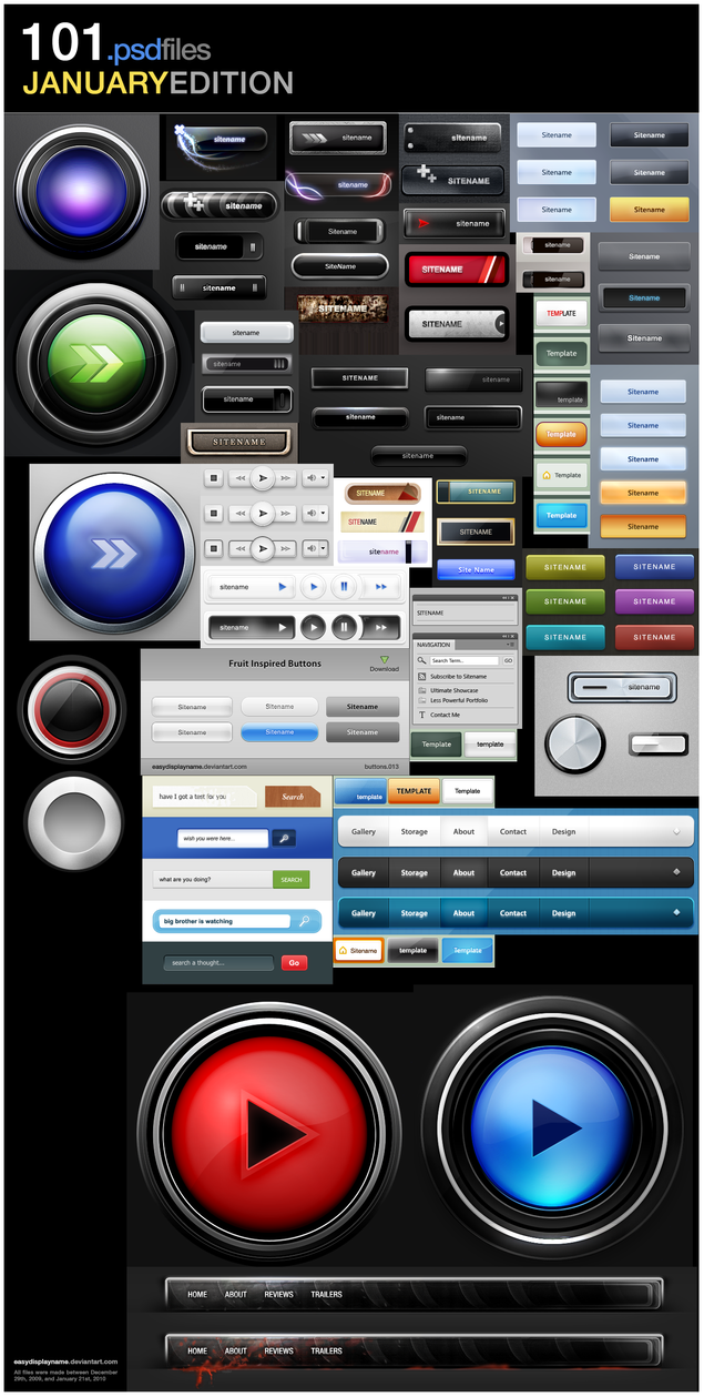 Button Collection: 101 files by easydisplayname