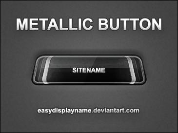 Metallic Button - .psd by easydisplayname