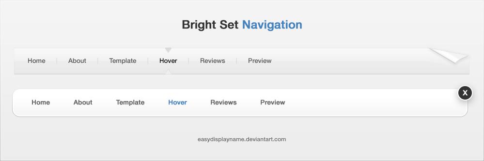 Bright Set Navigation