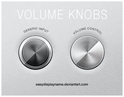 Volume Knobs by easydisplayname