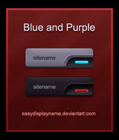 Blue and Purple buttons by easydisplayname