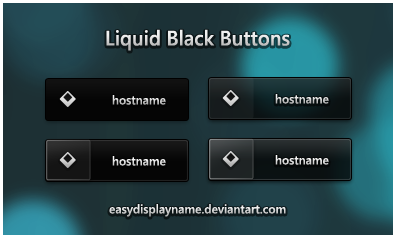 Liquid Black Buttons