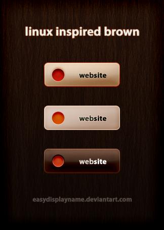 linux inspired brown by easydisplayname