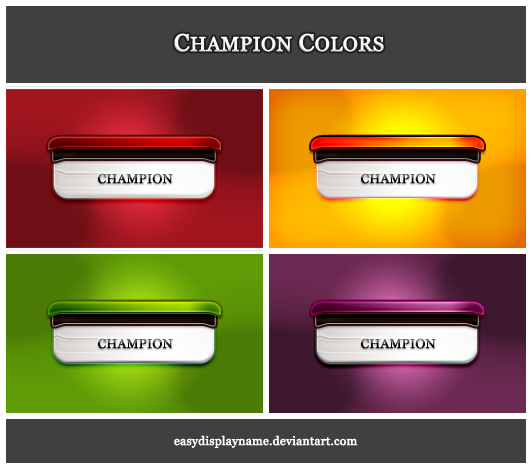 Champion Colors by easydisplayname
