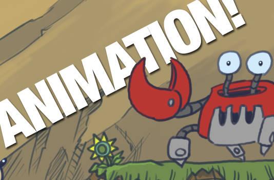 Sonic vs Crabmeat gif animation