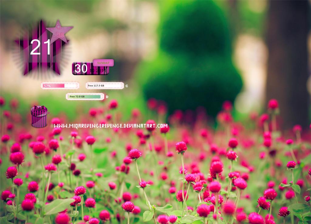 Skin pink Rainmeter by MiqaRevengeRevenge