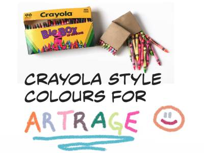 Crayola Style Colours-Artrage