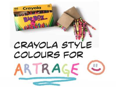 Crayola Style Colours-Artrage by bolsterstone