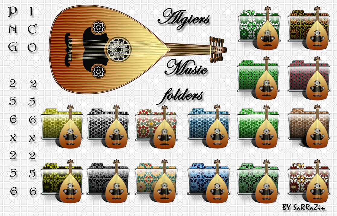 Algiers Music Folders by SarraZin
