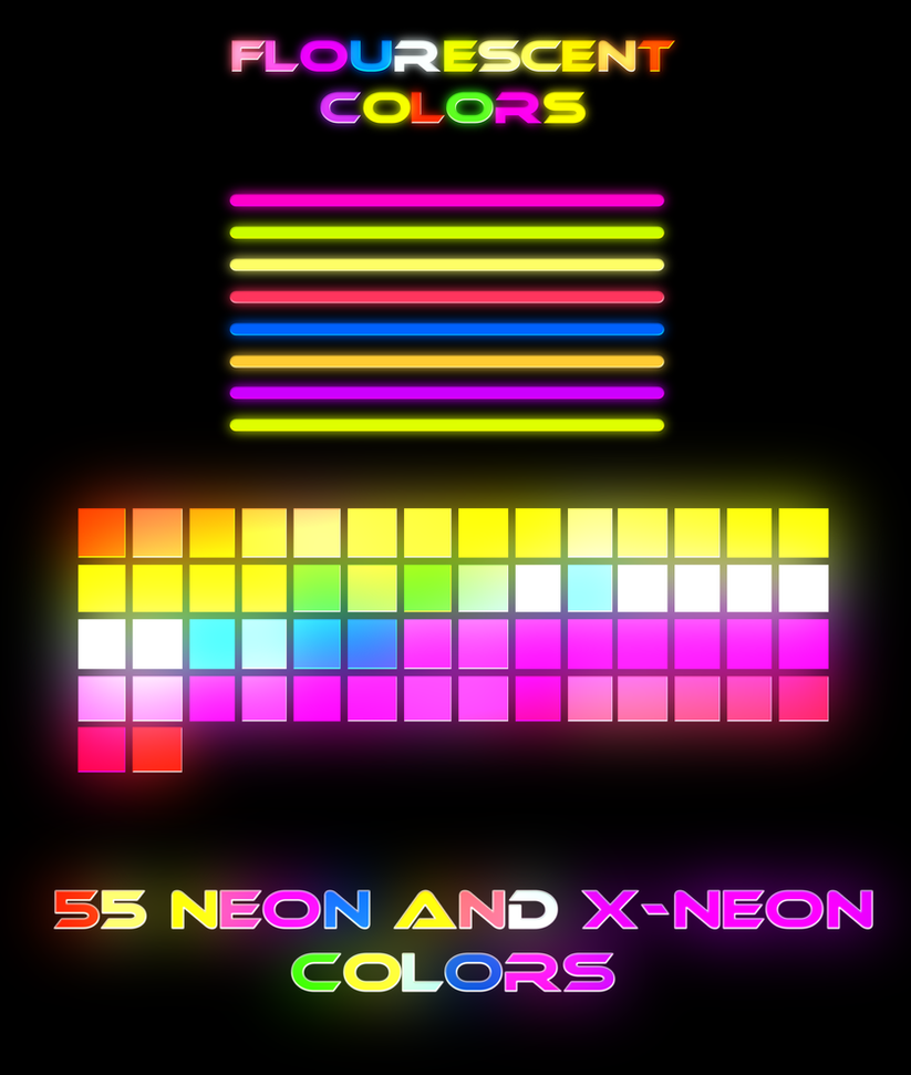 how to make neon colors in photoshop