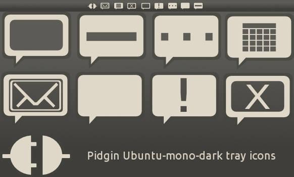 Pidgin ubuntu-mono-dark icons