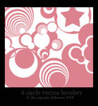 6 circle vector brushes