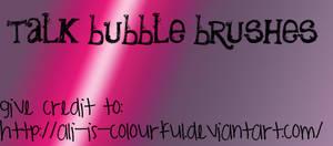 talk bubble brushes.