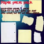 paper pieces stock