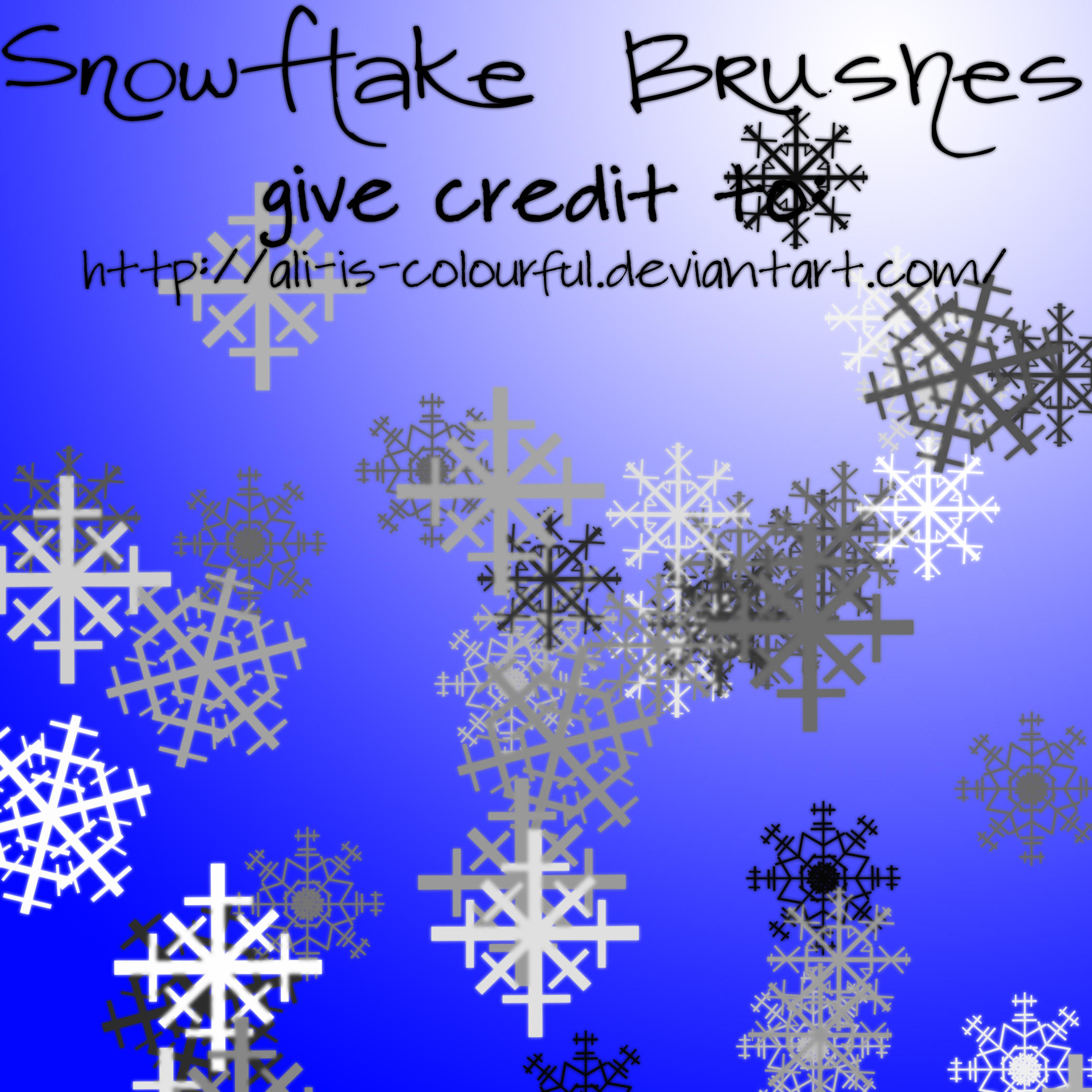 snowflake brushes by ali-is-colourful