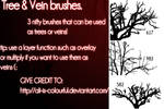 trees or veins brushes