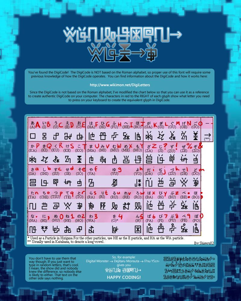 Digimon DigiCode: Kana-Based Version by Caretaker-of-Myth