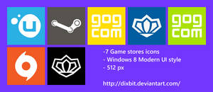 Game Stores Modern UI Icon Pack