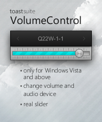 toastSuite: VolumeControl by toastbrotpascal