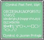 Clynikal Pixel Font by Clynikal