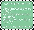 Clynikal Pixel Font