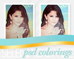 Selena Gomez TCA psd colorings by diamondlightart