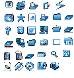 MORE BLUE ICONS