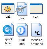 random icons -media,bat,exe-