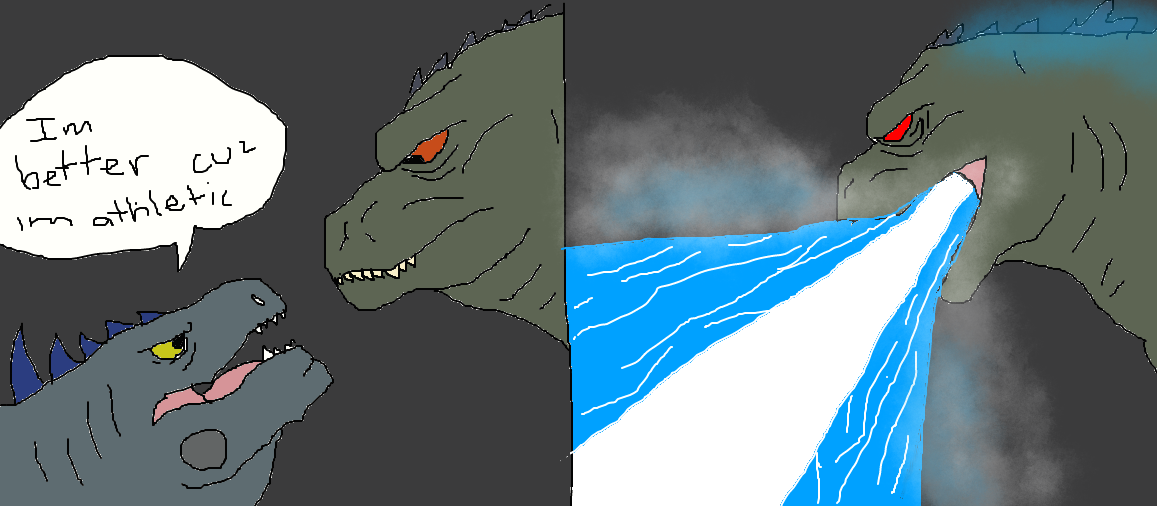 Godzilla Vs Zilla By Gmkmothafukas On Deviantart