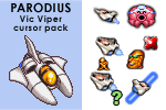 PARODIUS Vic Viper cursor pack by androide5