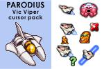 PARODIUS Vic Viper cursor pack by androide5