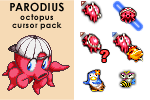 PARODIUS Octopus cursor pack by androide5