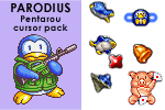 PARODIUS Pentarou cursor pack by androide5