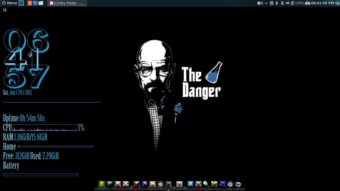 The Danger pack. Conky With Wallpaper