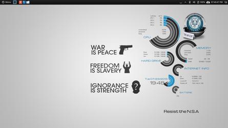 NSA Conky. Resist The N.S.A by speedracker