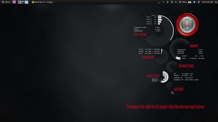 Red NSA Conky by speedracker